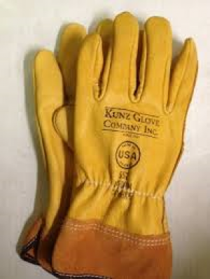 Kunz Leather Driver Gloves w/ 2'' cuff Size- LG