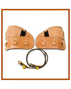 Bashlin Harness Leather Climber Pads w/Straight Insert for Steel Climbers & 1 Pair of 86N Straps