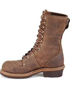 Carolina Brown Leather Waterproof Composite Toe 10'' Linesman Boot EE Width