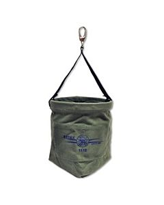 Estex Canvas Nut & Bolt Bag with Tapered Bottom, Web Sling, & Quick Release Snap