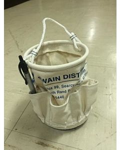 "Estex 5"" x 6"" Canvas Mini Tool Bucket w/Swain Distribution Logo - AKA Ditty Bag"