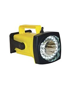SHO-ME LED Rechargeable Spot/Flood Light w/AC Charger in Yellow