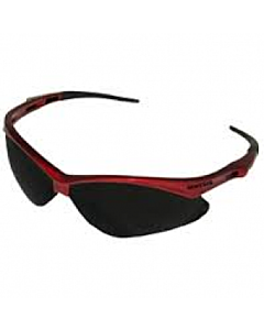 Nemesis Red Frame, Smoke Lens Safety Glasses (22611)