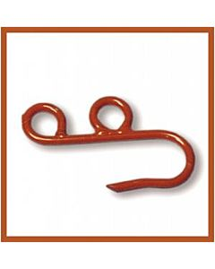 Handline Hooks, orange metal