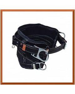 Bashlin 4 D-ring Line Belt - Black Leather