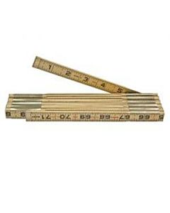 Klein 6' Folding Wood Ruler, Inside Read