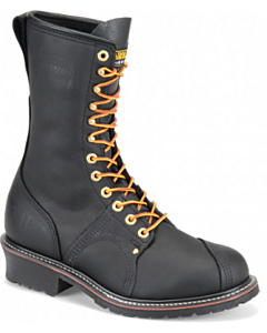 "Carolina Black Domestic 10"" Steel-toe Linesman boot EE Width"