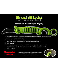 "Madi Brush Blade Knife ""The Lineman's Knife""--brushes up to 1000 MCM"
