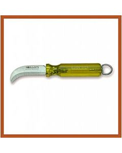 "Bashlin Basix 9-1/4"" Skinning Knife w/Yellow Handle & Ring"