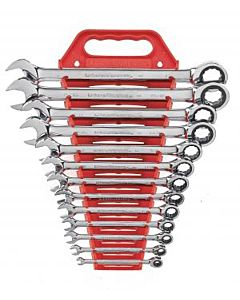 Gearwrench, 13 pc. Master Combination Ratcheting Wrench Set(¼,5/16,3/8,7/16,1/2,9/16,5/8,11/16,3/4,13/16,7/8,15/16,1)