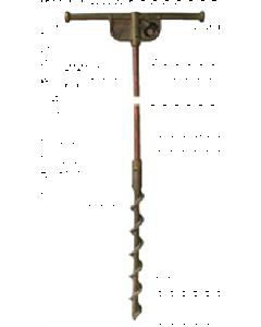 6' Copper Clad Temporary Screw Ground Rod w/T-Handle