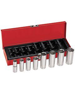 "Klein 3/8"" Drive Deep Socket Wrench Set"