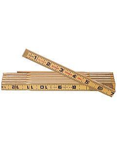 Klein Folding Wood Ruler, Outside Read