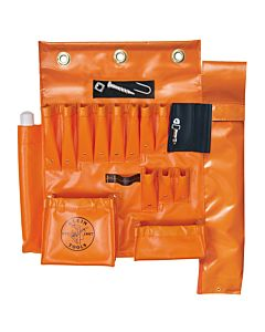 Klein Vinyl Aerial Tool Apron with Magnetic Strip & Hot Stick Pocket