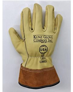 Kunz 552 Leather Drivers Style Gloves, Large
