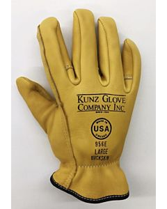 Kunz 956E Buckskin Work Gloves, Large