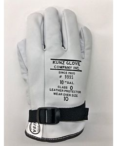 "Kunz 10"" Class 0 Low Voltage Gloves Size 10.5"
