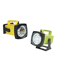 SHO-ME LED Rechargeable Spot/Flood Light w/DC Charger in Yellow